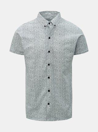 Biela košeľa s drobným vzorom Dstrezzed
