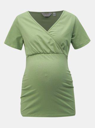 Zelené těhotenské/kojicí tričko Dorothy Perkins Maternity