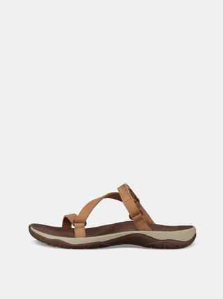 Sandale maro de dama din piele Teva