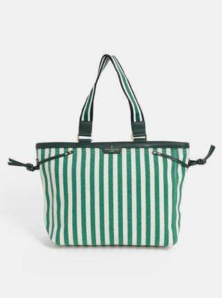 Krémovo–zelená pruhovaná kabelka Paul's Boutique Jasmin