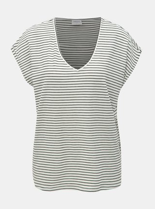 Tricou basic alb in dungi VERO MODA AWARE Ava
