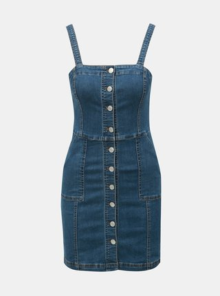 Modré rifľové šaty TALLY WEiJL
