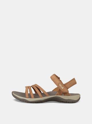 Hnědé dámské kožené sandály Teva