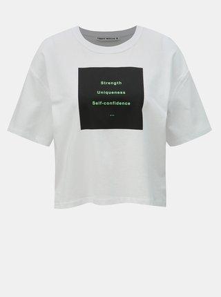 Tricou alb scurt cu imprimeu TALLY WEiJL