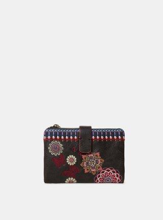 Čierna peňaženka s výšivkou Desigual Chandy Julia
