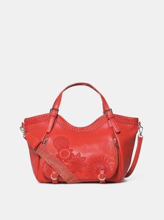 Červená kabelka s výšivkami Desigual Rotterdam