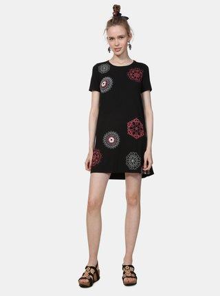 Čierne šaty s potlačou Desigual Liricaa