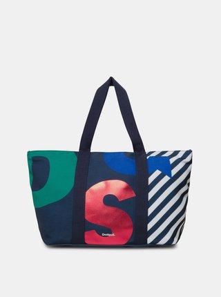 Modrá vzorovaná kabelka Desigual Logomania
