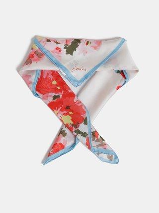 Krémový dámský květovaný hedvábný šátek Tom Joule Bloomfield