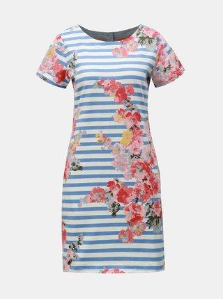 Bílo-modré květované šaty s příměsí lnu Tom Joule Ottie