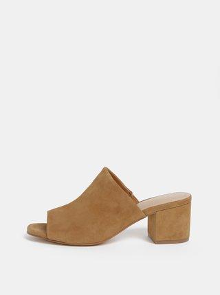 Světle hnědé dámské semišové pantofle ALDO Alaska