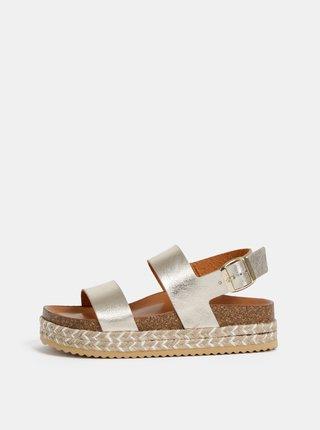 Dámske kožené sandále v zlatej farbe ALDO Ruryan