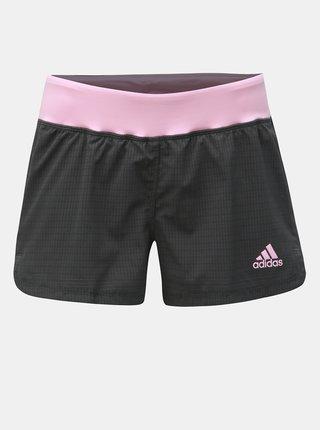 Růžovo-šedé dámské kraťasy adidas Performance