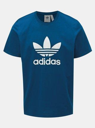 Petrolejové pánské tričko adidas Originals Trefoil