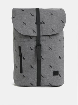 Šedý dámský žíhaný batoh s potiskem Spiral Tribeca 14 l