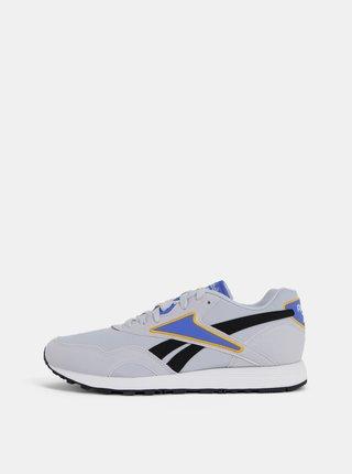 Pantofi sport barbatesti gri deschis cu detalii cu aspect de piele intoarsa Reebok Classic Rapide