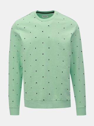 Bluza sport verde deschis cu model ONLY & SONS Nathaniel