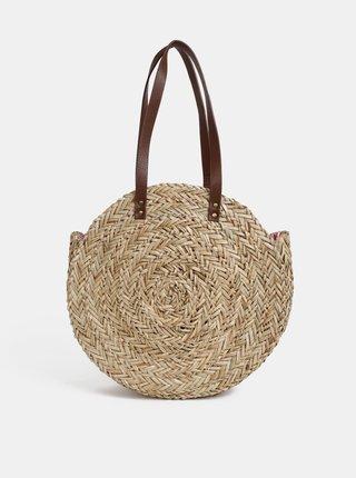 Béžová plážová slaměná taška Tom Joule Modena