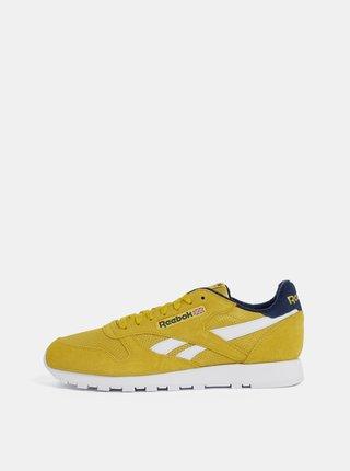 Žlté pánske semišové tenisky Reebok Classic Leather MU