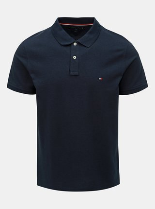 Tmavě modré pánské slim fit polo tričko Tommy Hilfiger
