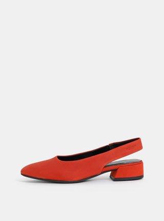 Pantofi rosii din piele intoarsa Vagabond Joyce