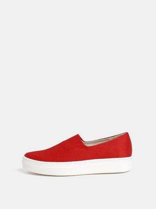 Pantofi slip on rosii de dama Vagabond Camille