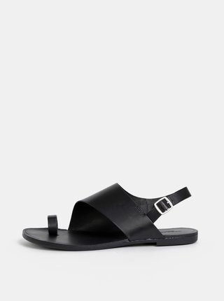 Černé dámské kožené sandály Vagabond Tia