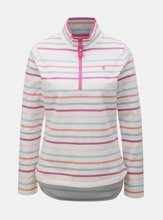 Bluza sport roz-alb in dungi de dama Tom Joule Fairdale
