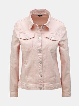Růžová džínová bunda M&Co