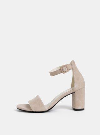 Světle růžové semišové sandálky Vagabond Penny
