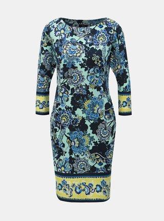 Modré květované šaty M&Co