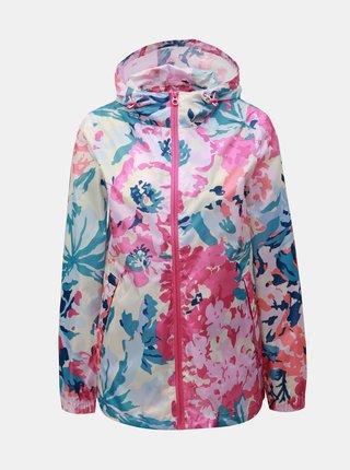 Růžovo-bílá dámská květovaná nepromokavá lehká bunda Tom Joule