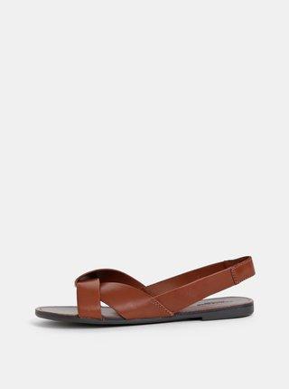 Sandale maro de dama din piele Vagabond Tia
