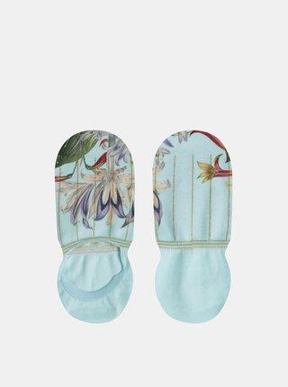Mentolové dámské květované ponožky XPOOOS