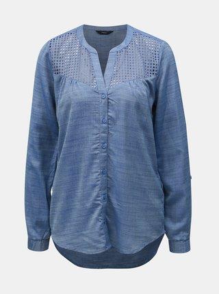 Bluza albastra melanj M&Co