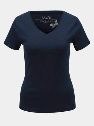 Tricou basic albastru inchis M&Co