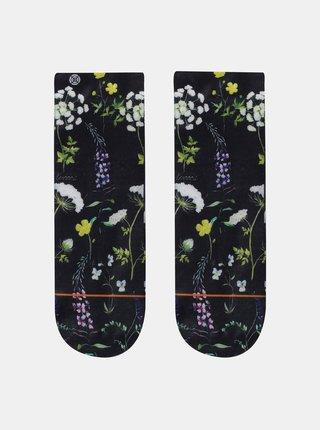 Černé dámské květované ponožky XPOOOS