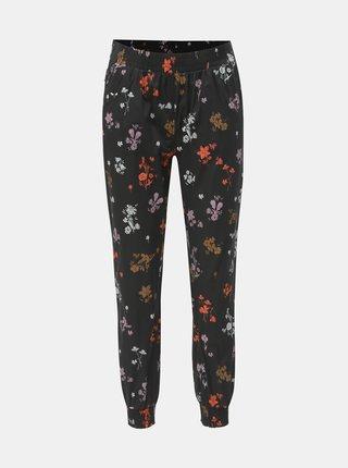 Černé dámské květované kalhoty Maloja Marietta