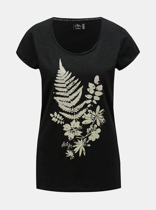 Tricou negru de dama cu imprimeu Maloja Dorta