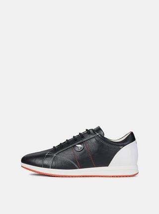 Pantofi sport alb-negru de dama din piele Geox Avery