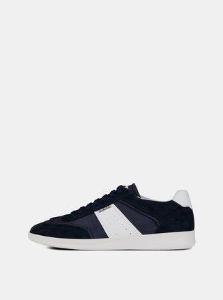 Pantofi sport barbatesti albastri cu detalii din piele Geox Kennet