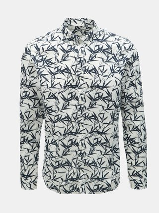 Camasa alba slim fit cu model si amestec de in Jack & Jones Summer Print