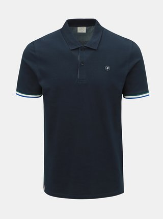 Tricou polo albastru inchis slim fit Jack & Jones Stan