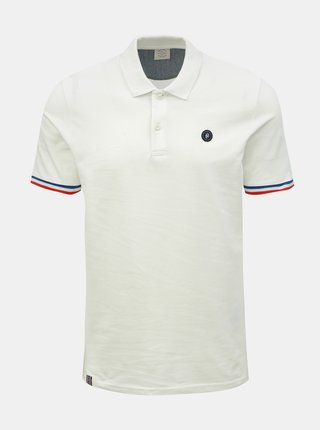 Tricou polo alba slim fit Jack & Jones Stan