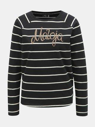 Tricou negru in dungi de dama Maloja Gurlaina