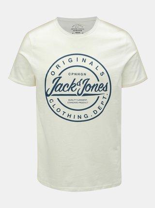 Tricou alb slim fit cu imprimeu Jack & Jones Rart Tender