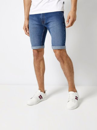 Pantaloni scurti albastru inchis din denim Burton Menswear London