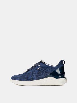 Pantofi sport albi de dama din piele intoarsa Geox Theragon