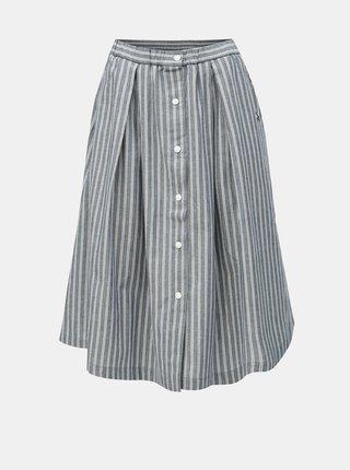 Modrá pruhovaná sukně s kapsami Maloja Quadrella