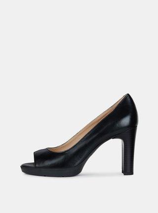 Pantofi negri din piele Geox Annya